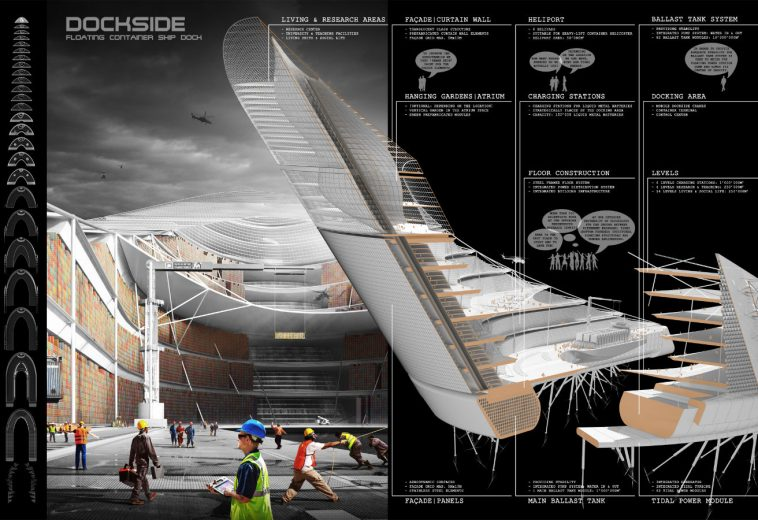 """""""Ephemere Highrise"""" Floating Power<br> Charging Station by Dimo Ivanov"""